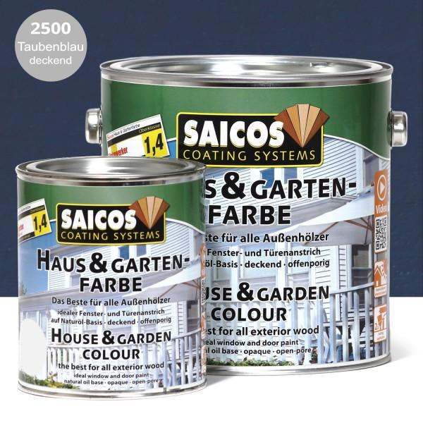 SAICOS Haus- & Gartenfarbe Taubenblau deckend