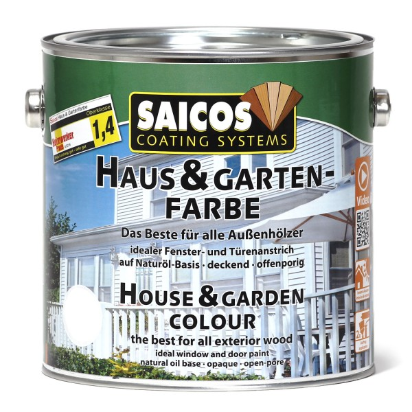 SAICOS Haus- & Gartenfarbe Felsengrau deckend