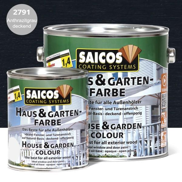 SAICOS Haus- & Gartenfarbe Anthrazitgrau deckend