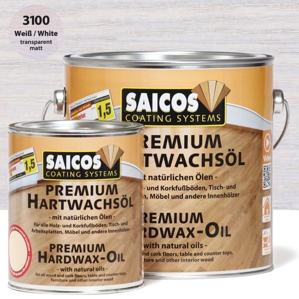 SAICOS Premium Hartwachsöl Weiß transparent matt
