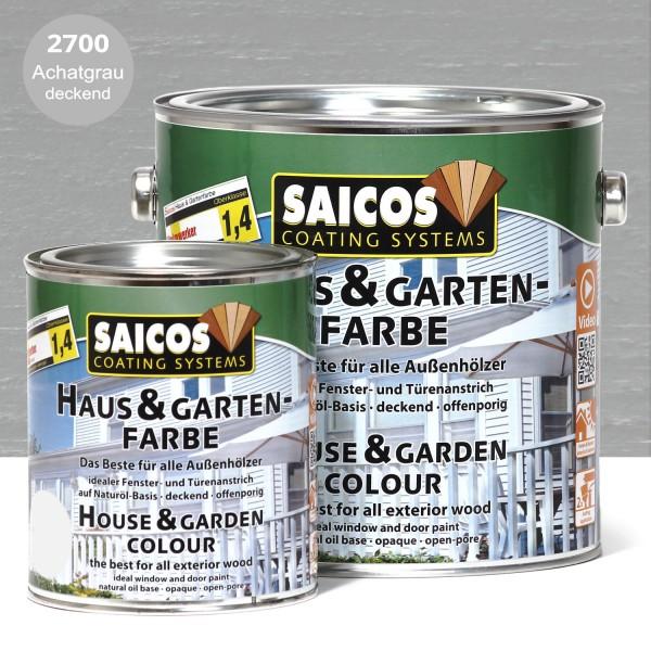 SAICOS Haus- & Gartenfarbe Achatgrau deckend