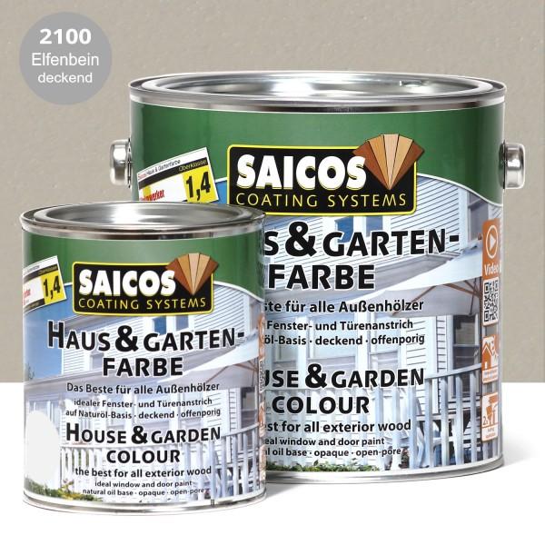 SAICOS Haus- & Gartenfarbe Elfenbein deckend